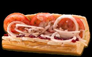 Essen bestellen: Camembert Sandwich mit Preiselbeeren
