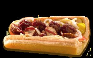 Essen bestellen: Hackbällchen Sandwich mit BBQ-Soße (warm)