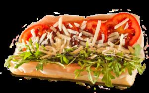 Essen bestellen: Italienisches Sandwich mit Parmaschinken, Rucola und Parmesan