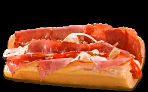 Essen bestellen: Pastrami Sandwich mit magerer Rinderbrust und Remoulade