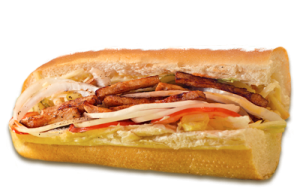 Essen bestellen: Putenstreifen Sandwich mit Sweet-Chili-Soße (warm)