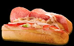 Essen bestellen: Salami Sandwich mit würziger Salami