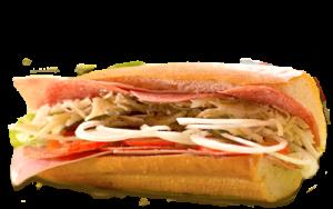 Essen bestellen: Schinken-Salami Sandwich mit Kochschinken und Salami