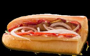 Essen bestellen: Ungarisches Sandwich mit ungarischer Salami (scharf)