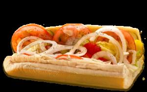Essen bestellen: Vegetarisches Sandwich wahlweise mit oder ohne Käse